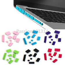 "Soft Silicone Anti Dust Port Plug Cover For MacBook MAC Air Retina Pro 11"" 13"""