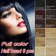 100% Real Human Hair Full Head Clip in Remy Hair Extensions UK Delivery
