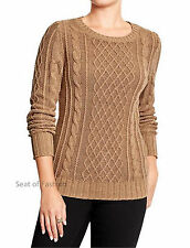 NWT Old Navy Women's Cable Knit Sweater XS or S Camel Color Orig Price $34.94