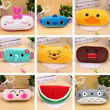 Vintage Cute Soft Plush Pencil Pen Case Novelty Makeup Cosmetic Pouch Bag Zipper