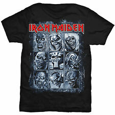 IRON MAIDEN Nine Eddies T-shirt Sizes S to XXL Powerslave Number Of The Beast