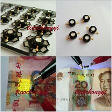 3W UV/Ultraviolet 365NM-370NM High Power LED Light Emitter Bead with Star PCB