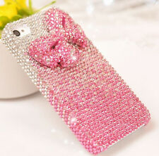 For Mobile Phone Bling Mixed Rhinestones Diamonds Lovely Bowknot Hard Cover Case