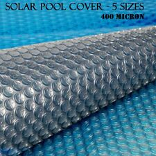 NEW Solar Swimming Pool Cover Outdoor Bubble Roller Blanket Heater 400 Micron