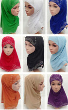 New Style Muslim Women Hijab Islamic 2 Piece Set Hot Drilling Amira Hijab Scarf