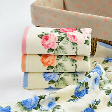 Soft Cotton Floral Handkerchief Face Towel Cleaning Bath Wash Cloth Fast Drying