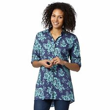Mantaray Womens Navy Floral Longline Shirt From Debenhams
