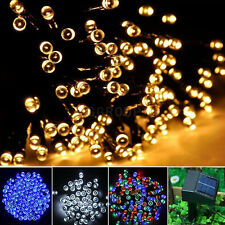 Solar Powered 100/200/300 LED String Lights Garden Lawn Fairy Christmas Lamps