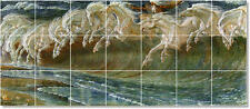 S-M-L-XL Walter Crane Mythology Painting Ceramic Bathroom Shower Tile Murals
