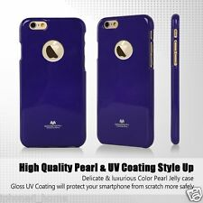 Genuine Goospery Purple Jelly Case Cover with Apple LOGO Cutout For iPhone 6/6s