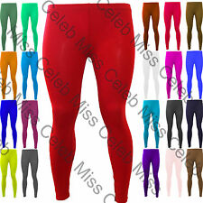 Womens Stretchy Plain Full Length Pants Ladies Trousers Skinny Jeggings Leggings