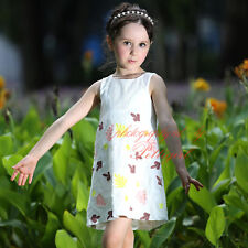 Girls Princess Dress Kids Floral Party Dresses Fashion Design Summer Clothes NEW