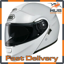 Shoei Neotec Flip Up/Front Motorcycle Motorbike Touring Helmet - White