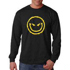 Big Yellow Smiley Face Long Sleeve T-Shirt Tee