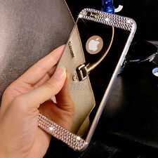 Luxury Ultra-thin Mirror Transparent TPU Case Cover Skin For iPhone & Samsung