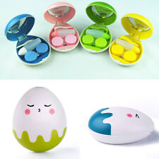 Egg Design Travel Contact Lens Case Box Travel Storage A Great Gift Sunny
