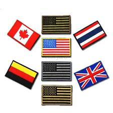 Hot New Chic Nation Flag Emblem Patch Embroidered National Country Trim Sew