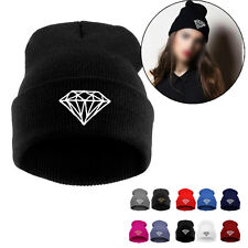 DIAMOND pattern Hip-Hop Cap Men Women's Beanies Winter Cotton Knit Wool Hats