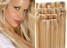 Full Head Clip in 100% Human Hair Extensions EW INDIAN 4PCS by Sleek Luxury
