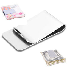 New High Quality Money Clip Credit Card Holder Wallet New Stainless Steel chic