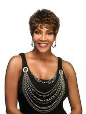 Vivica A Fox H222 Short Layer Wig Pure Stretch Cap 100% Human Hair Hand Stitched