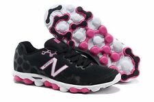 Womens New Balance MINIMUS IONIX Textile Black Pink Running Trainers W3090BP1