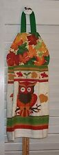 Owl Sitting on a Branch Fall Leaves Hanging Kitchen Oven Hand Dishtowel HCF&D