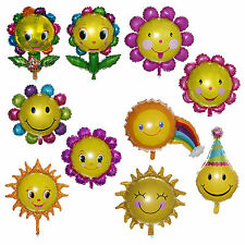 10 Shapes Smile Sunflowers Foil Balloon Baby Birthday Party Shower Decor Choose