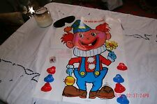"""Vintage 1960's Child's Game """"Pin Nose On Clown"""" Never used Old Fashion  Fun"""