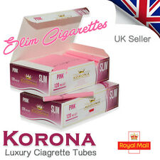 KORONA SLIM PINK EMPTY CIGARETTE TUBES - SAVE UP TO 30% ON TOBACCO