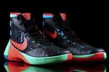 MENS NIKE HYPERDUNK 2015 BASKETBALL SHOES BLACK RED GREEN 749567 084 SIZE 7-12