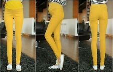 Maternity Pants High Waist Elastic Colorful Pregnant Pants Skinny Trousers