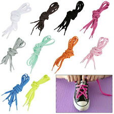 3/5 Pairs Flat Coloured Shoe Boot Trainer Football Skate Laces Shoelaces 129.5CM