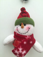 Xmas Tree hanging decoration Bell Father Christmas Santa Snowman Reindeer Teddy