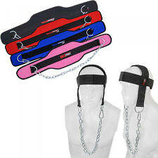 Head Harness Neck Straps Weight Lifting Training Chain Dipping Belts