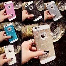 New Luxury Bling Glitter Crystal Hard Back Case Cover For iPhone + Stylus & Film