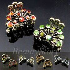ADD'L Item FREE Shipping - 2 Antiqued Rhinestone Peacock Small Hair Claw Clip