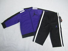 NWT Infant Boy's 2-Piece Tricot Nike Jordan Tracksuit Set Purple Black SIZES