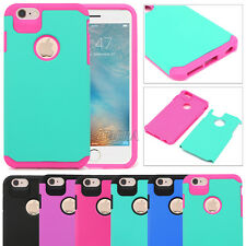 Heavy Duty Tough Hybrid Shockproof Matte Rugged Protector Case Cover For iPhone