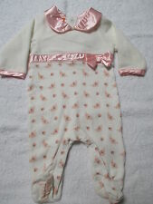 PUMPKIN PATCH BABY GIRLS PRETTY PINK WITH ROSES ONESIE PETER PAN COLLAR  BNWT