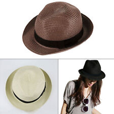 NEW Womens Girls Mens Boys Hat Straw Boater for Fancy Dress Party Accessory UK