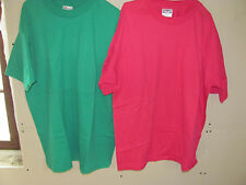 Hanes Blank Fifty/Fifty 50/50 Cotton Polyester T-shirts White 50/50 heavyweight