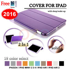 OZ Smart Cover and Hard Back Case for Apple iPad 4 3 2 iPad mini 1234 iPad Air 2