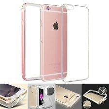 Aluminum Silicone TPU Bumper Clear Acrylic Back Case Cover for iPhone 6&6s 6Plus