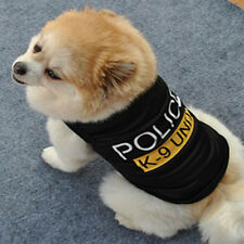 Hot Dog Cat Vest Police Puppy T-Shirt Coat Pet Clothes Summer Apparel Costumes