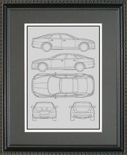 Blueprint Art - Jaguar C-Type D-Type E-Type F-Type XE XF XJ XK - Choose Your Mod
