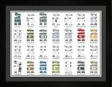 Auto Art - Land Rover Car Collection Range Rover Discovery Freelander Print Gift