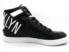 Kids ADIDAS HARD COURT HI BIG LOGO K Black Brooklyn Trainers D66010