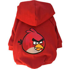 Printed Dog Hoodie - Angry Birds Red