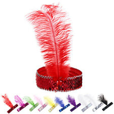 Women Ladies Fashion unique soft stretchy Polyester Feather Hair Band Headband